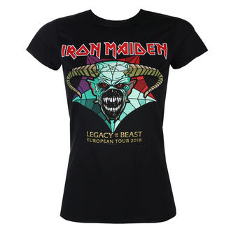 Damen T-Shirt Metal Iron Maiden - Legacy of the Beast European Tour 2018 - ROCK OFF, ROCK OFF, Iron Maiden