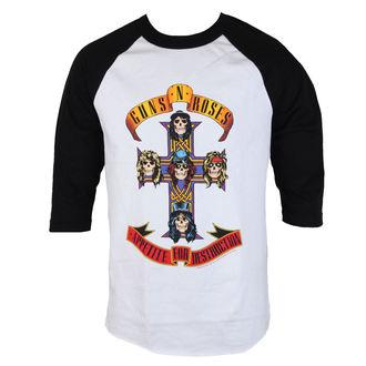Herren 3/4 Arm Shirt Guns N' Roses - AFD RAGLAN-WEISS / SCHWARZ - BRAVADO, BRAVADO, Guns N' Roses