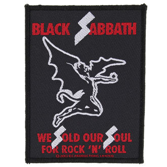 Aufnäher BLACK SABBATH - SOLD OUR SOULS - RAZAMATAZ, RAZAMATAZ, Black Sabbath