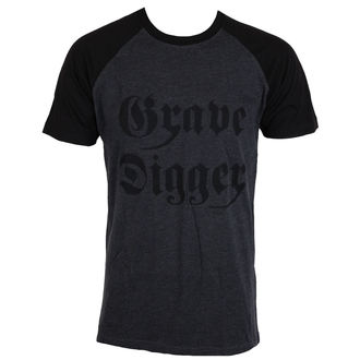 Herren T-Shirt Metal Grave Digger - Charcoal / Schwarz -, Grave Digger
