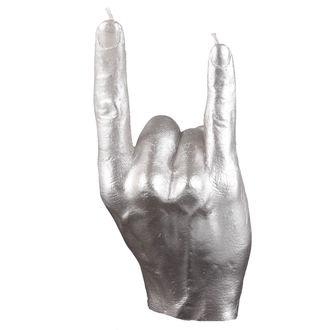 Wachskerze Hand  - RCK Silver