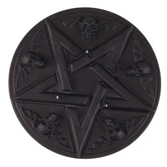 Kerze Pentagramm - Black Matt