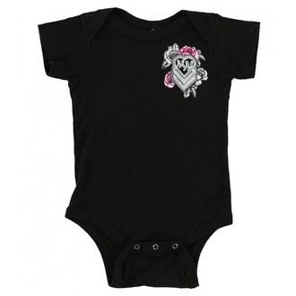 Baby Body  METAL MULISHA - BABY GIRL ONESIE - BLK, METAL MULISHA