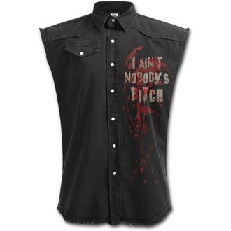 Ärmelloses Herren Hemd SPIRAL - DARYL WINGS - Walking Dead Stone, SPIRAL
