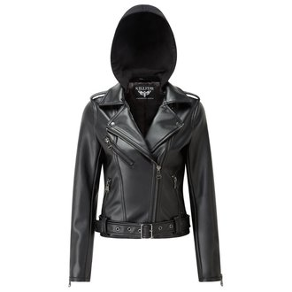 Lederjacke - Ruth Less Veganomicon Biker - KILLSTAR - K-JKT-F-2427