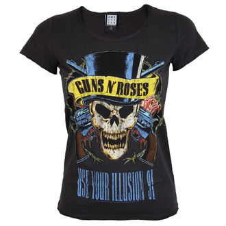 Damen T-Shirt Metal Guns N' Roses - AMPLIFIED - holzkohle, AMPLIFIED, Guns N' Roses