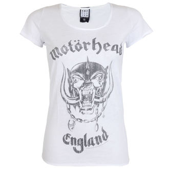 Damen T-Shirt Metal MOTORHEAD - ENGLAND - AMPLIFIED - WEISS, AMPLIFIED, Motörhead