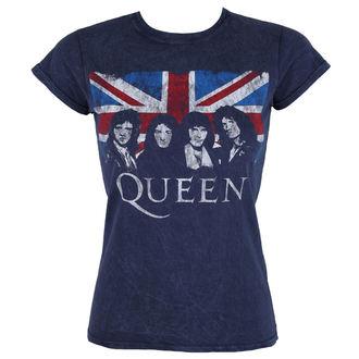 Damen T-Shirt Metal Queen - Denim - ROCK OFF, ROCK OFF, Queen