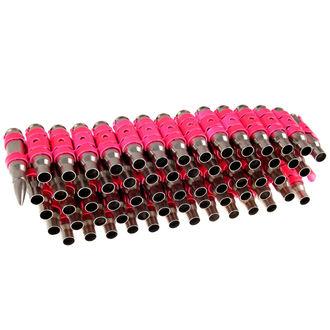 Gürtel Silber & Fluoreszierend - Pink Metal Bullet