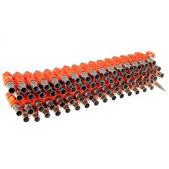 Gürtel Silber & Fluoreszierend - Orange Metal Bullet