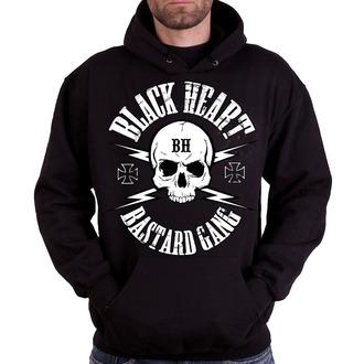 Herren Hoodie - BASTARD SKULL - BLACK HEART
