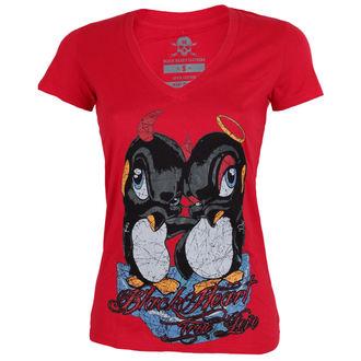 Damen T-Shirt Street - PINGUIN - BLACK HEART, BLACK HEART