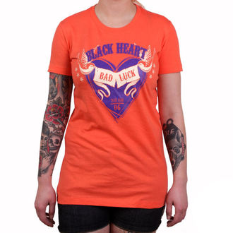 Damen T-Shirt Street - BAD LUCK - BLACK HEART - 010-0038-ORG