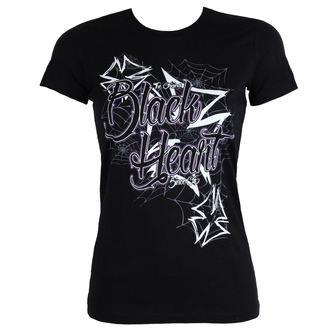 Damen T-Shirt Street - CROSS - BLACK HEART, BLACK HEART