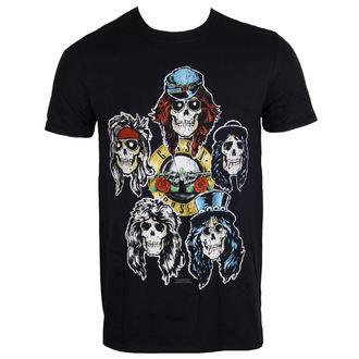 Herren T-Shirt Metal Guns N' Roses - Vintage Heads - ROCK OFF, ROCK OFF, Guns N' Roses