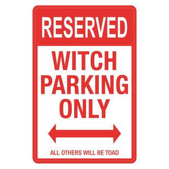 Dekoration (Schild) Witch Parking