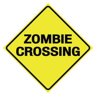 Schild Zombie Crossing