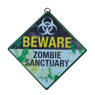 Schild Beware Zombie Sanctuary