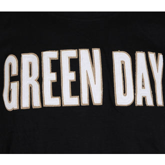 Herren Metal T-Shirt Green Day - Logo & Grenade Applique Slub - ROCK OFF, ROCK OFF, Green Day
