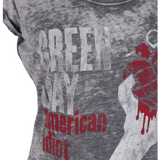 Damen Metal T-Shirt Green Day - American Idiot - ROCK OFF, ROCK OFF, Green Day