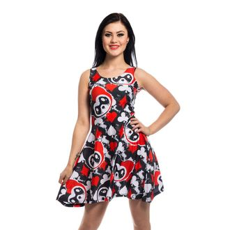 Damen Kleid KILLER PANDA - CARD - SCHWARZ / ROT, KILLER PANDA