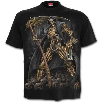 Herren T-Shirt - STEAMPUNK SKELETON - SPIRAL, SPIRAL