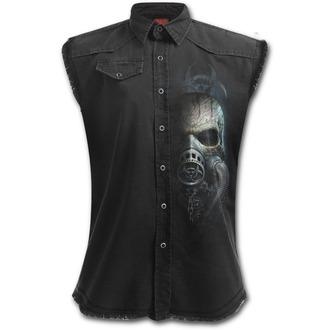 Herren Hemd ohne Ärmel SPIRAL - BIO-SKULL - Schwarz, SPIRAL