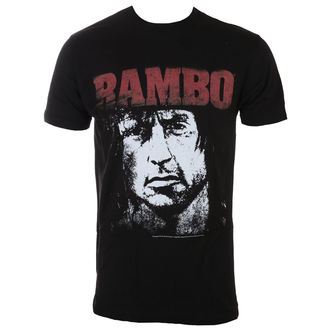 Herren T-Shirt Film RAMBO - Red&White, AMERICAN CLASSICS