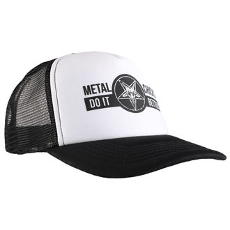 Cap METAL CHICKS DO IT BETTER - BAPHOMET - Logo - WHT & SCHWARZ, METAL CHICKS DO IT BETTER