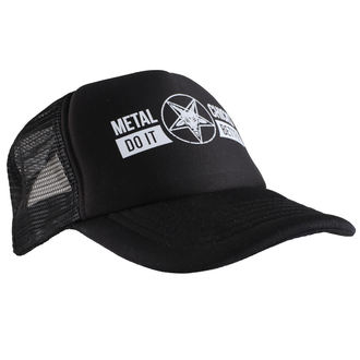 Cap METAL CHICKS DO IT BETTER - Baphomet - Logo - Schwarz, METAL CHICKS DO IT BETTER