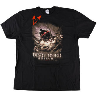 Herren T-Shirt Metal Disturbed - Asylum - ROCK OFF, ROCK OFF, Disturbed
