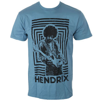 Herren T-Shirt Metal Jimi Hendrix - AUTHENTIC SQUARES BLUE - BRAVADO, BRAVADO, Jimi Hendrix