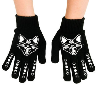 Handschuhe TOO FAST - WITCHY WOMAN BLACK CAT & MOONS, TOO FAST