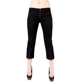 Shorts 3/4 Damen Black Pistol - Zip Slacks Black Denim, BLACK PISTOL