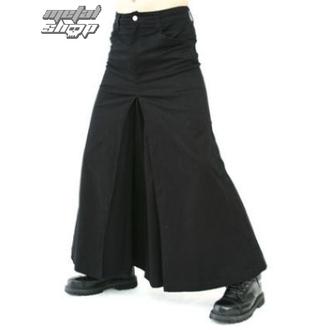 Kilt Black Pistol - Men Skirt Denim Black, BLACK PISTOL