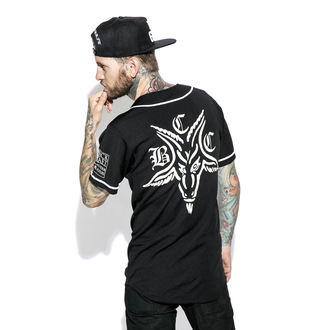 Unisex T-Shirt BLACK CRAFT - Team Satan Baseball Jersey, BLACK CRAFT