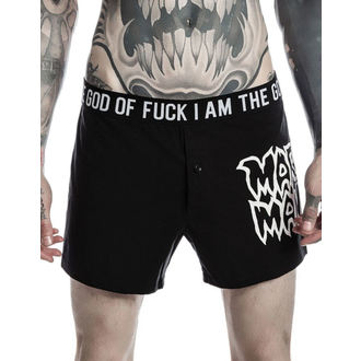 Herren Boxershorts KILLSTAR - MARILYN MANSON - God of Fuck - Schwarz, KILLSTAR, Marilyn Manson