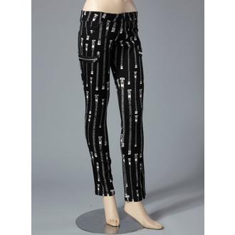 Damen Hose  HELL BUNNY - Zipper Skinny Jeans (White) - 5134 WHT