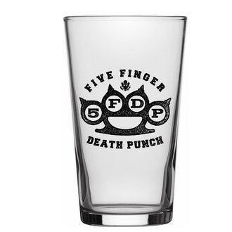 Glas FIVE FINGER DEATH PUNCH - KNUCKLE LOGO - RAZAMATAZ, RAZAMATAZ, Five Finger Death Punch