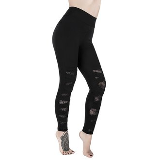 Damen Leggings KILLSTAR - CASKET KICKER - SCHWARZ, KILLSTAR