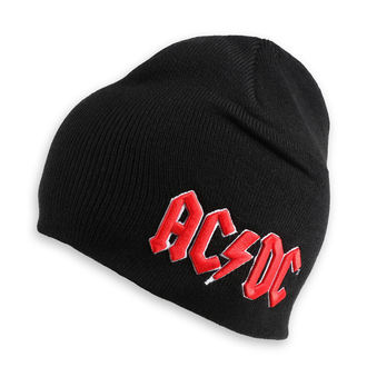 Beanie Mütze AC / DC - Red 3D Logo - ROCK OFF, ROCK OFF, AC-DC