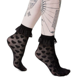 Socken KILLSTAR - DARK HEARTS - SCHWARZ, KILLSTAR