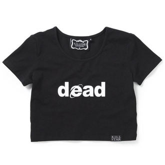 Damen T-Shirt Top KILLSTAR - Dead Crop - Schwarz, KILLSTAR