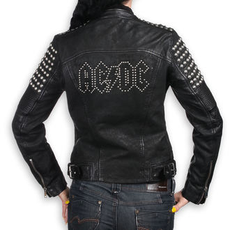 Damen Lederjacke AC-DC - BLACK - NNM, NNM, AC-DC