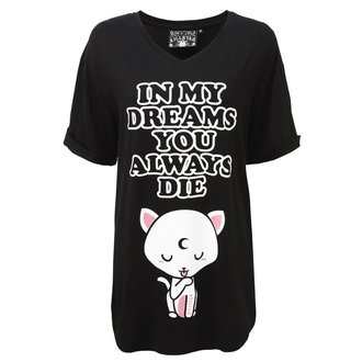 Pyjama T-Shirt KILLSTAR - DREAMS - SCHWARZ, KILLSTAR