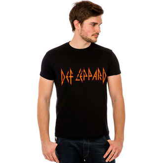 Herren T-Shirt Def Leppard - Classic Logo - LIVE NATION, HYBRIS, Def Leppard