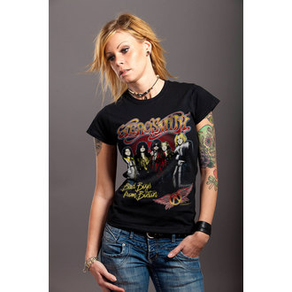 Damen T-Shirt Metal Aerosmith - Band - HYBRIS, HYBRIS, Aerosmith