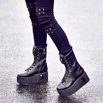 Damen Keilstiefel - ETERNAL ECLIPSE - KILLSTAR