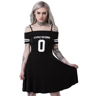 Damen Kleid KILLSTAR - EXPECTATIONS BARDOT - SCHWARZ, KILLSTAR