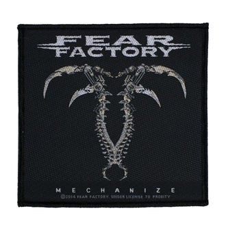 Aufnäher FEAR FACTORY - MECHANIZE - RAZAMATAZ, RAZAMATAZ, Fear Factory